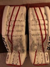 Pro Stock Pro Return Ccm goalie leg pads Game used Capitals Copley