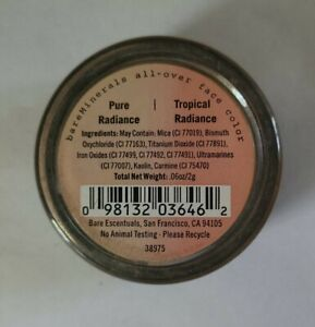 BareMinerals All Over Face Color TROPICAL RADIANCE & Pure Radiance Duo  2g/.06oz