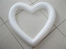 3Pcs Polystyrene Foam Hollow Heart Craft DIY 40x41cm