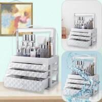 Large Plastic Cosmetic Organizer Makeup Case Holder Drawers Jewelry Storage Box
