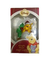 Winnie the Pooh Night Light Disney Acrylic Christmas Nursery Baby Child Gift Nib