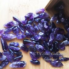 Tumbled Gemstone Natural Crystal Amethyst 5g Birthstone Sagittarius Aquarius