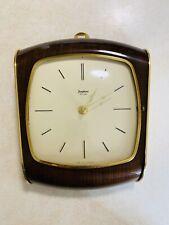 Vintage Junghans Mid Century Wall Clock Wooden Clock Brass German Antique Clock