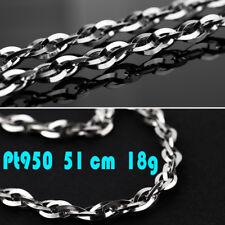 LUXUS Collier Platin 950 Platinkette Kette bis 51cm 18,15g Pt950 edler als Gold