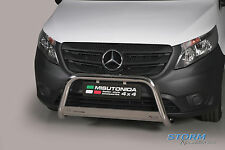 Mercedes VITO W447 2014 ON MACH EC Stainless Steel Front A-Bar, Bull Bar - 63mm