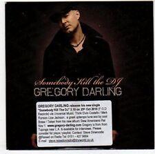(EM564) Gregory Darling, Somebody Kill The DJ - 2010 DJ CD