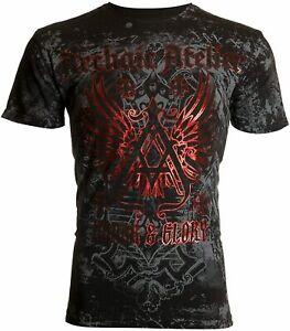 ARCHAIC by AFFLICTION Men's T-Shirt ACHILLES Black CROSS Biker S-5XL $40 NWT