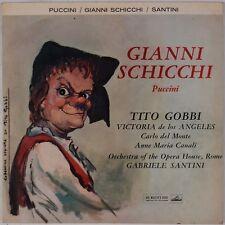 GIANNI SCHICCHI: Puccini, Tito Gobbi, Santini Opera ALP 1726 HMV UK Orig LP