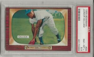1955 BOWMAN #98 JUNIOR GILLIAM, PSA 8.5 NM-MT+ , BROOKLYN DODGERS, ONLY 5 HIGHER
