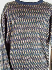 Towncraft Mens Sweater Size XL Long Sleeve Crewneck Acrylic Multicolored