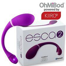 Kiiroo OhMiBod Purple Interactive Esca 2 App Smartphone Bluetooth Vibrator Ovulo
