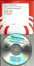 WYCLEF JEAN Lil Wayne Sweetest Girl INSTRUMENTAL & ACAPPELLA PROMO DJ CD Single