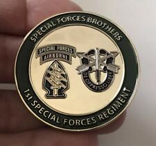 U.S. ARMY 1ST SPECIAL FORCES REGIMENT AIRBORNE GREEN BERET CHALLENGE COIN NO CPO
