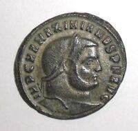 Ancient Roman Empire, Maximianus, 297-298 AD. AE Follis