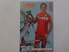 wielerkaart 2003 team saeco  gilberto simoni