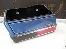 honda gl1200 goldwing interstate blue left saddlebag assembly case 1200 1985
