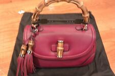 NWT GUCCI Bag BAMBOO Hangbag Shoulder Bag Burgundy Red Authentic