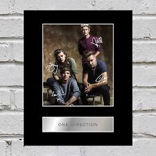 One Direction Signed Mounted Photo Display