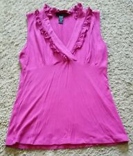 Cable & Gauge Shirt Tank Top size small S - pink fuchsia