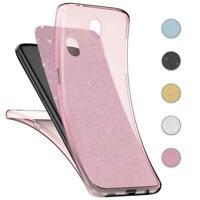 Handy Hülle Samsung Galaxy J7 2017 Full TPU Case Glitzer Schutzhülle Cover Klar