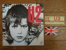 U2 1983 1st Japan Tour Tour Book Concert Program Ticket Stub Card Thrown By Bono