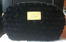 New Victoria'S Secret Black Rose Blossom Floral Makeup Cosmetic Case Bag Clutch