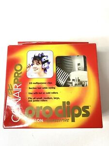 Conair PRO CLIPS 10 Pcs Salon Hot or Cold Rollers