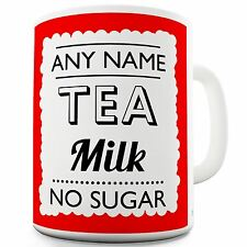 Personalised Mug with Name (add ANY name, drink, message, text) Red Novelty Mug