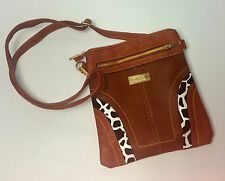 WOMENS BAG BROWN BEIGE CROSS BODY BAG UK FAST POSTAGE NEW  QUILTED CHAIN