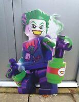 LEGO DC SUPERHEROES THE JOKER 76cm HIGH SHOP DISPLAY MINIFIGURE ADVERTISEMENT #2