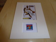 Kobe Bryant NBA L.A. Lakers mounted photograph & original his stamp