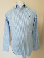 Mens Crew Clothing Shirt Small Classic Fit Blue Stripe 42 Chest Vgc