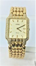 New Solid 18k Yellow Gold JUVENIA Unisex watch with Diamonds Ref 11521BR2