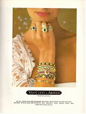 1980 Van Cleef & and Arpels Jewelry Retro Print Ad Vintage Advertisement VTG 80s