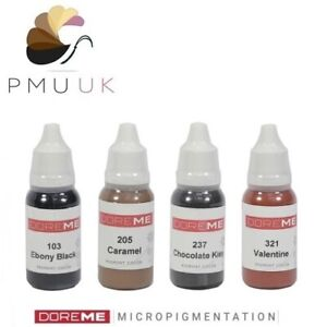 DOREME Semi Permanent Makeup Pigment SPMU Machine Ink - Eyebrow Lip Eyeliner PMU