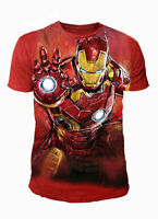 Marvel Comics - Iron Man Herren T-Shirt - Avenger Sublimation (Rot) (S-XL)