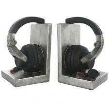 Headphones Shelf Tidy Heavy Resin Bookends by Fiesta Studios CD Stand BRAND NEW