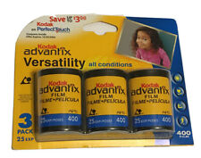 New ListingKodak Advantix 3 Pack Aps Color Print Film 400 Expired 01/07 Sealed 25 Exp/roll