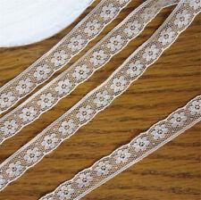 10 Yards Vintage Embroidered Lace Trim Wedding Bridal Dress Ribbon Applique DIY