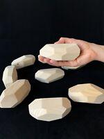 Tumi Ishi Wooden Balancing Stones - Set of 9 LARGE Rocks Game