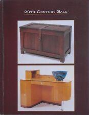 20TH CENTURY ARTS 1994 AUCTION CATALOG Art Nouveau Art Deco Italian Glass +++