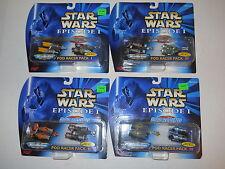 1998 Galoob Micro Machines Star Wars Episode I Pod Racing Pod Racer Pack I-4 NEW