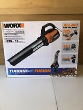 Worx Turbine Fusion Leaf Blower, Mulcher, and Vacuum Dual-Turbine Fan – WG510