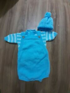 Hand knitted baby sets 0-3 months
