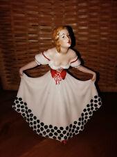 Porzellan Figur tanzende Frau - sehr selten