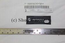 Motorola Oem 33009261001 - Label, Grille, Speaker for Apx6000