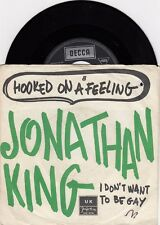 "JONATHAN KING HOOKED ON A FEELING UNIQUE COVER 1974 RECORD YUGOSLAVIA 7"" PS"