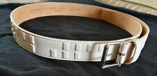 Emporio Armani White Leather Ladies Belt Size 46 Y4S023