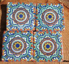 """36~Talavera Mexican 2"""" tile pottery hand painted Brand new hand made kiln fired"""