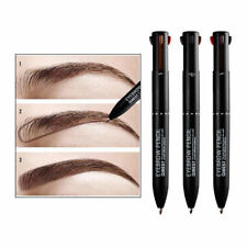 4 In 1 Women Long-lasting Brown Eyebrow Pencil Eye Brow Liner Pen Make Up Tool